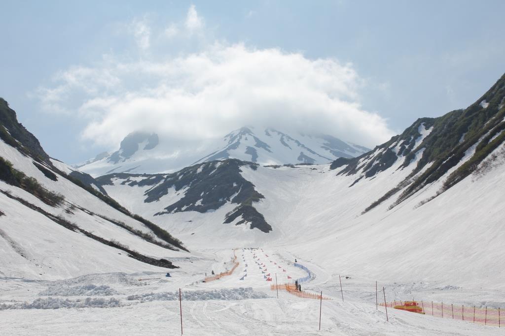 Оснежение склона и проектирование горнолыжной трассы на вулкане